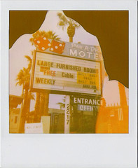 Par-A-Dice Motel (Nick Leonard) Tags: city vegas dice classic film sign analog vintage polaroid office rooms lasvegas nevada nick large entrance free motel cable daily scan retro palmtrees 600 signage fremontstreet expired weekly address available playonwords furnished fanpalms instantgratification instantfilm 600film type600 paradice polaroidfilm filmexpired filminstant nickleonard eastfremontstreet filmintegral