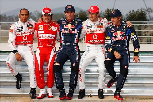 Lewis Hamilton; Fernando Alonso; Mark Webber; Jenson Button