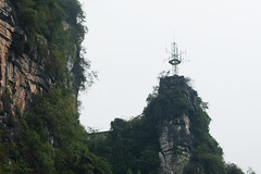 Antenna on the Li River in Guilin