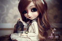 free as a bird, locked in a cage ~ ( J a c k y) Tags: cute birdcage girl beauty canon eos doll deer mai fawn planning groove pullip bambi lin blanche jun