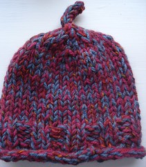 Red Ribbed Dulaan Hat #4