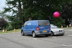Van with beach ball
