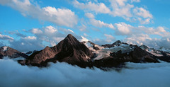 Above the Clouds (Bev and Steve) Tags: sky mountains alps wow austria searchthebest superb hiking hutte oetztaler flickrsbest specland breslauer