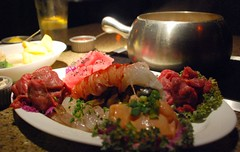 We went out for fondue on Sunday night. (Malingering) Tags: shrimp meat meal marincounty fondue lobstertail