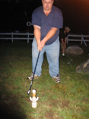 The Pope ready to tee-off1 (The Traveling Pope) Tags: travel camp pope golf mattatuck