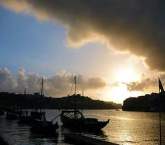 Sunset (KurtQ) Tags: sunset portugal river boats july porto douro stillness 07