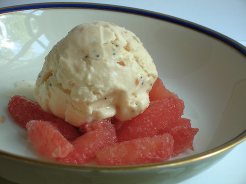 grapefruit-poppy-seed ice cream