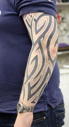 tribal shaded 02 Tattoo by The Tattoo Studio. Tattooed at The Tattoo Studio,