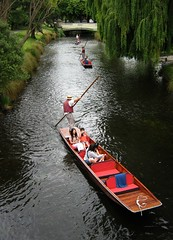 New Zealand South Island Christchuch.Punting on River  Avon. . (1085) (pjwar) Tags: newzealand christchurch people southisland punting punt riveravon peopleoftheworld pjwar