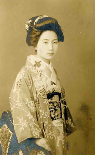 Vintage Japanese Photo - Nihongami Old Japan Hair Style by softypapa