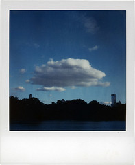 a cloud (davebias) Tags: newyorkcity sky cloud vintage polaroid sx70 centralpark polaroidsx70 polaroidlandcamera