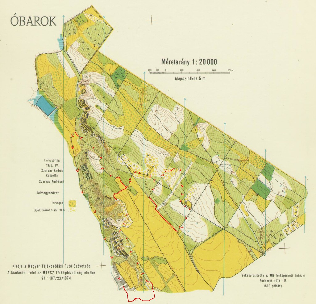Óbarok tájfutó térkép