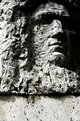 tooproud (urban penguin) Tags: sculpture face stone carving carve romania rough transylvania angular