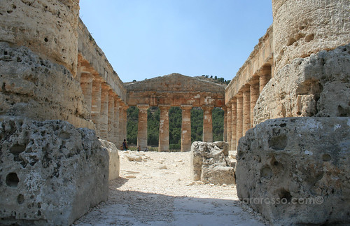 Segesta temple from Ground level, Sicily