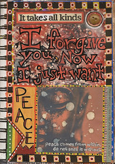Forgive (Barb ) Tags: art collage magazine peace mixedmedia buddha artjournal forgive artjournaling