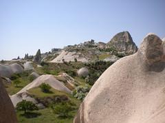 Cappadocia (aqualite) Tags: rock turkey greek ancient asia europe desert plateau islam historic fairy bible christianity badlands minor arid chimneys biblical cappadocia formations hoodoos anatolia dwellings goreme anatolian