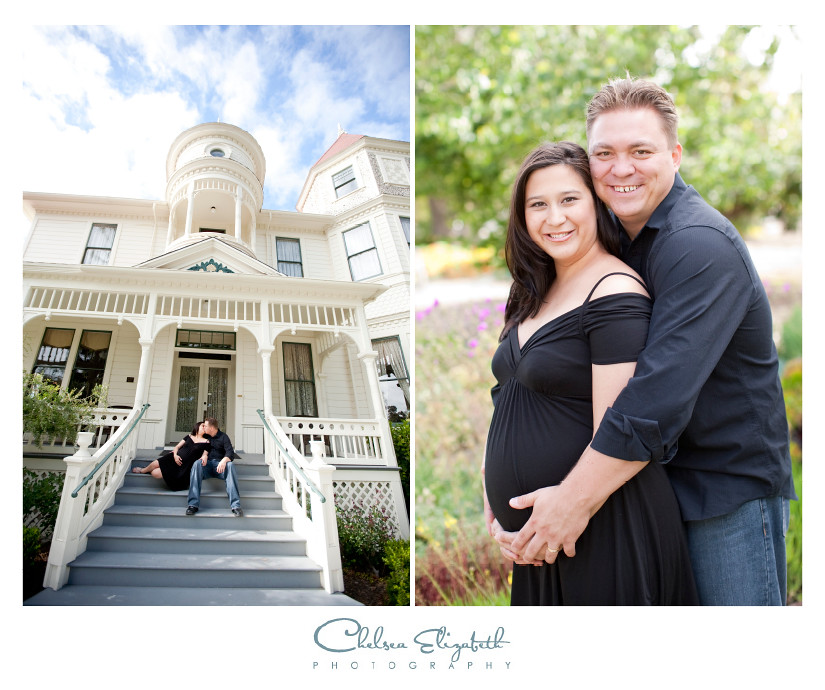 Old victorian house and maternity portraits