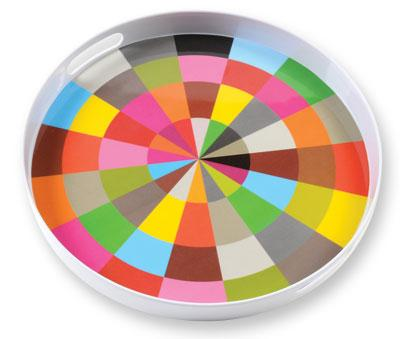 FRENCH BULL COLOR WHEEL ROUND TRAY