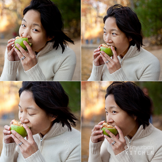 JenEatingInsideOutApple-1