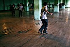 Datong skating rink (Mike Dillingham) Tags: china man motion blur canon eos october skating 7d roller rink shanxi datong makeshift 2010 canonefs1022mmf3545usm
