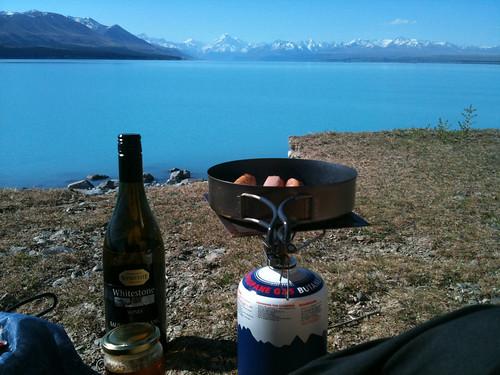 NZで初めて自分のストーブを使った。