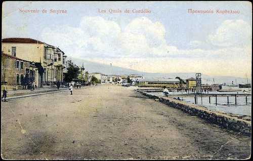 Karpostallarda yangından önce İzmir, Kordonboyu