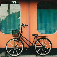 (_namtaf_) Tags: man reflection film window bike wall office scan study moire p6tl