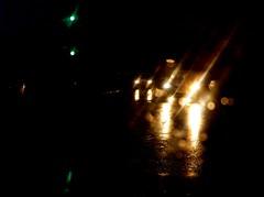 Sunday rain (Kirsten M Lentoft) Tags: light white green rain night denmark nightshot carlight hillerød momse2600 kirstenmlentoft