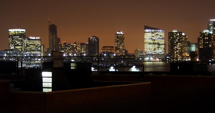 Light pollution over Jersey City
