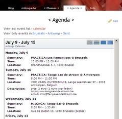 Milonga.be: tango events