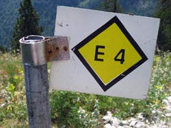 Follow the E4 Signs