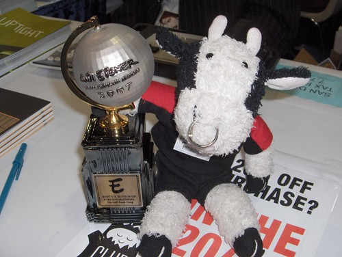 "I won an Eisner Award for ""Best Stuffed Animal Blogger!"""