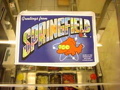 Greetings From Springfield (See El Photo) Tags: show california 15fav food fish television cali promo drawing character cartoon simpsons 100views thesimpsons animated burbank 7eleven 2007 mutation 1f televisionshow faved mattgroening moviepromo burbankca threeeyes thesimpsonsmovie cartoonshow kwickemart greetingsfromspringfield