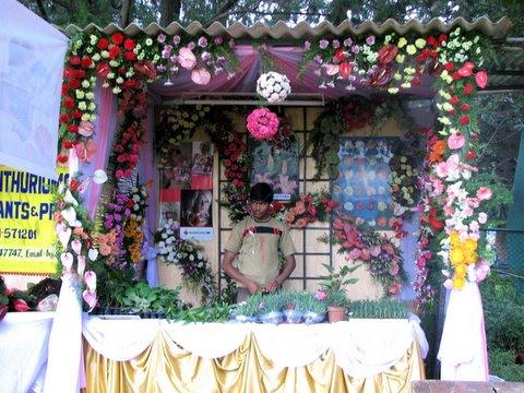 decorative flowers stall