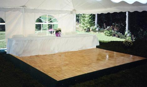 Tent with dance floor