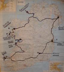 Irlandako mapa bukaeran