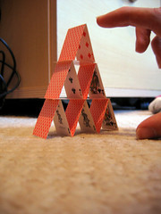 Miniature House of Cards
