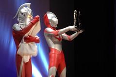 Ultraman shows off his Hugo