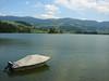 Lac de la Gruyère... (LukeDaDuke) Tags: mountain lake mountains water schweiz switzerland see boat meer suisse suiza lac fribourg lacdelagruyère ogoz iledogoz gruyèrelake pontenogoz