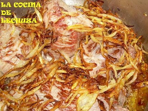 Carne asada con cebolla