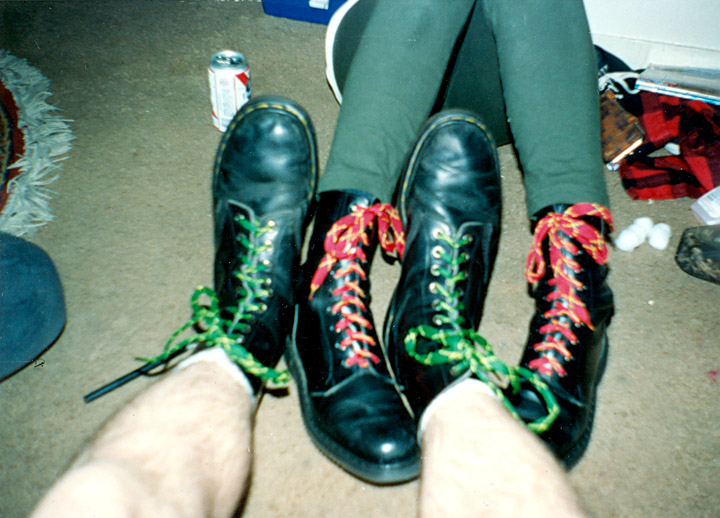 Black Boots Red Laces Meaning