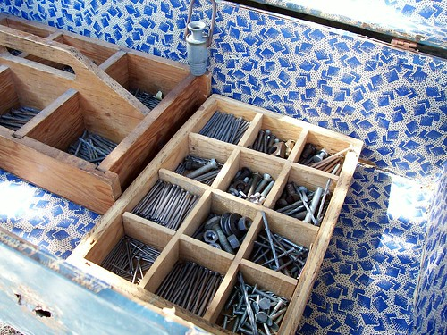 little crates of nails