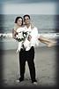 Happy Couple (retro) (Kerrie Lynn Photography (Sugaree_GD)) Tags: wedding sunset amanda beach de evening ryan ceremony barefoot delaware dewey sugareegd