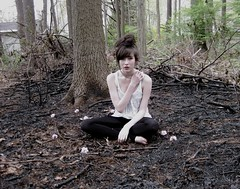 ashes, ashes, we all fall down. (katieohh) Tags: portrait selfportrait contrast forest fire pale burnt messyhair ash porject365