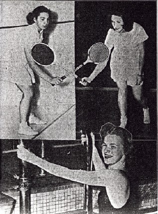 In 1942, The Hudson Valley Courier wrote an article about Vassar's physical education program, noting, ''freshmen and sophomores are required to take a course in physical education, and although upperclassmen may forego work in this department, about 50 percent voluntarily take part in some phase of the athletic association program... Most popular sport in the winter season with the students is swimming. Among the sports rapidly gaining favor are badminton, squash and bowling.''