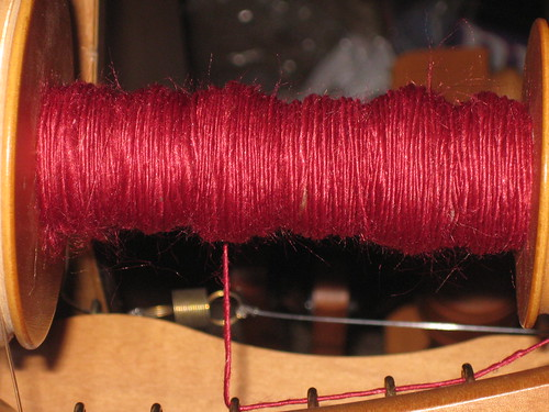 Ruby Red handspun