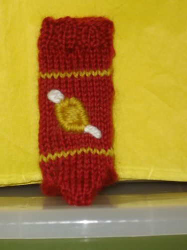 Mini-Gryffindor Gold Snitch sock for Lulu33 Reducio Swap 2010