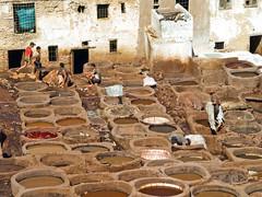 Tanneries (4) (Gerry Balding) Tags: africa people leather work northafrica morocco souk medina dye tanks fes tanneries worldtrekker