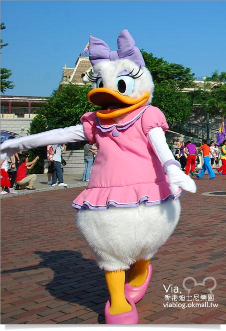 【香港迪士尼】跟著via玩香港(3)~迪士尼卡通人物歡樂巡遊46