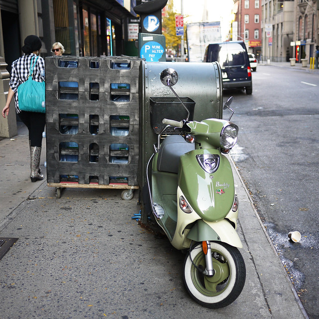 vespa & water on 27th st #walkingtoworktoday
